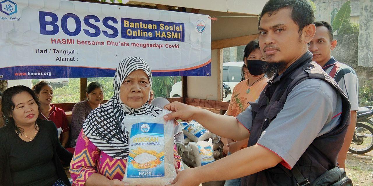Hasmi Depok Kembali Menyalurkan Bantuan Sosial